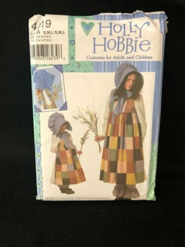 UNCUT Simplicity 4419 Holly Hobbie Costume Sewing Pattern Child Adult Sizes NOS - $19.95