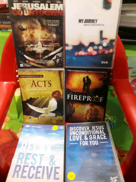 Various christian dvds for sale