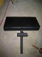 Larger Heavily Padded Preacher Curl Attachment with Bar Holder