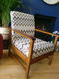 Recently upholstered occasional chair / seat