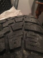 Winter tires set of 4 Saxon blazer 215 65R 16 on dodge rims