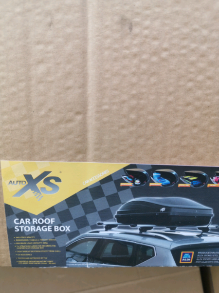 Used, New car roof storage box for sale  Maidstone, Kent