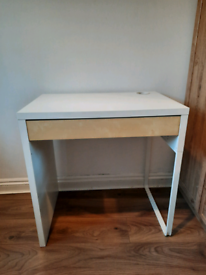 SOLD Ikea Micke Desk, White and Wood