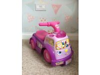 Fisher price pink ride on