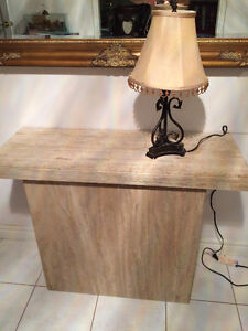 Solid Polished Marble Console Table in Good Condition $$Reduced$