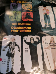 Skeleton shirt costume kids MED