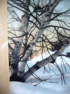 """Hand Signed, Hand Colored Photo by F. Jacquet  """"Birch Tree"""" 1920 Stratford Kitchener Area image 9"""