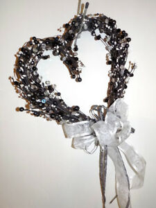 Heart Shaped Pearl Themed Wreath