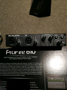 M-audio ProFire 6 in 10 out Firewire preamp recording interface