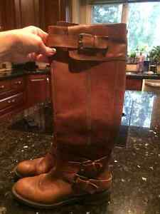 Enzo Angiolini leather tan riding boots