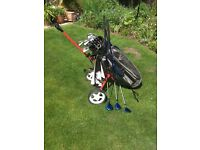 Golf Clubs, Bag and Trolley.