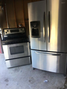 Stainless steel appliances fridge and stove for sale