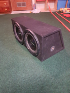 Subs, amp, and capacitor