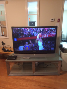 SAMSUNG with Glass TV Stand Entertainment centre