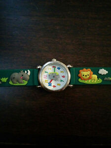 Child's watch with raised animal design