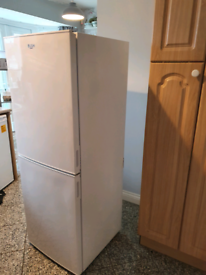 Bush frost free fridge freezer white