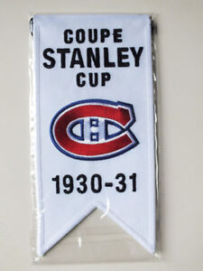 CENTENNIAL STANLEY CUP 1930-31 BANNER MONTREAL CANADIENS HABS