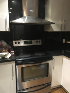 Stainless Steel Oven Range and Hood