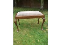 Victorian double seater piano stool