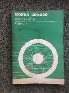 1964 Honda 250 300 Parts List Hawk Superhawk