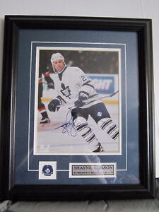 SHAYNE CORSON SIGNED TORNTO MAPLE LEAFS FRAMED PHOTOGRAPH