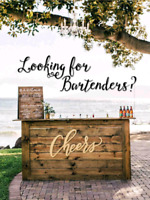 Bartenders available for Buck and Doe/Weddings
