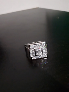 Size 12 mens silver ring 70% OFF