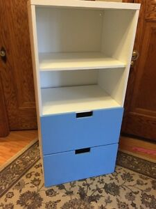 Ikea stuva with 2 blue drawers