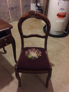 "2 Antique Chairs 35"" h x 17"" w  $100 for pair, $75 each"