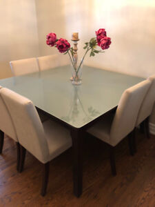 Cherry Wood Dining table plus 8 chairs
