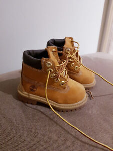 Timberland leather boots sz 5 toddler
