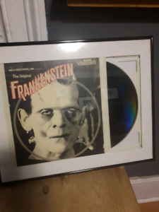 Frankenstein RCA video disc in a matted frame