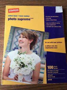 Photo Supreme- colour laser paper and Gray linen paper