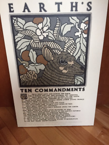 Wall Hanging - Earths 10 Commandments