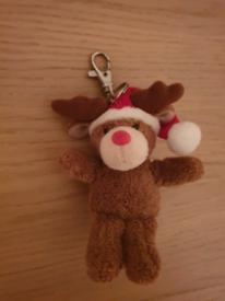 Reindeer Teddy Bear Keyring