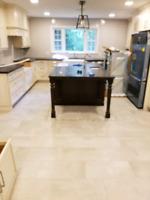 Professional flooring  installer and tile setter