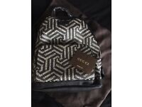 Gucci caleido print canvas/suede backpack bag brand new tagged rrp £700
