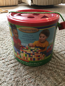Imaginarium Bucket of Wooden blocks