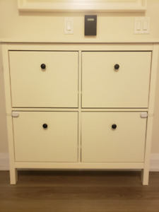 IKEA HEMNES Shoe Cabinet, White, great condition, MSRP $149