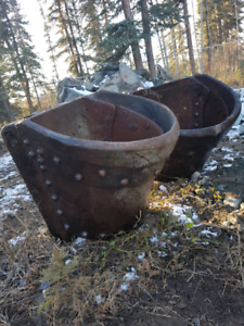 Ancient dredge buckets