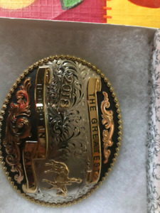 Brand new never used silver buckle. Calgary Stampede Collectable