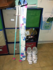 Skis bindings boots poles for girl 3-5 years 12-1 foot size