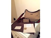 Original Gucci messenger bag with receipt and authentication stamp inside