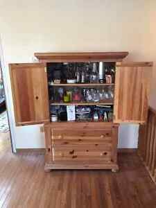 "Pine Hutch 63"" tall, 42"" wide & 20"" deep"