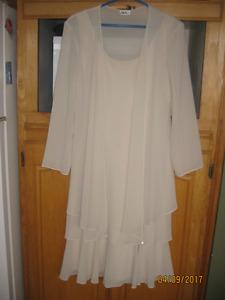 Cream two piece dress
