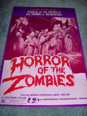 HORROR OF THE ZOMBIES(1976)ORIGINAL U.S. PRESSBOOK+