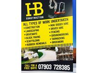 H&B construction & Micro digger Hire !!!!!!!