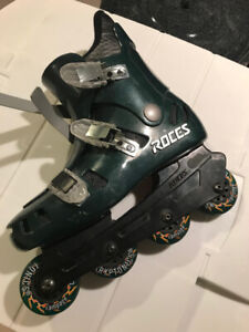 Roces mens rollarblades and protective equipment