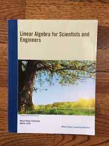 MRU Linear Algebra for Scientists and Engineers Math 1203 ~ $60