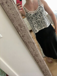 Lace crop top from H&M!